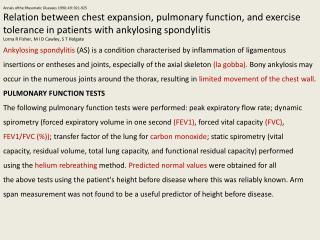 Annals  ofthe  Rheumatic Diseases 1990; 49: 921-925