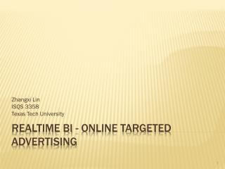 Realtime BI - Online Targeted Advertising