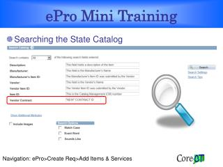 ePro Mini Training