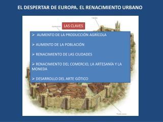 EL DESPERTAR DE EUROPA. EL RENACIMIENTO URBANO