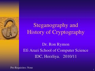 Steganography and History of Cryptography