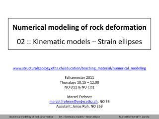 Numerical modeling of rock deformation 02 :: Kinematic models – Strain ellipses