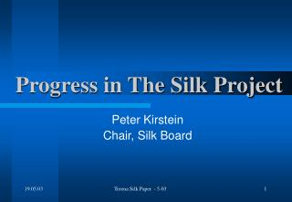 Progress in The Silk Project