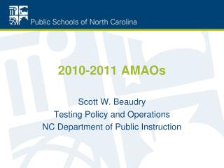 2010-2011 AMAOs