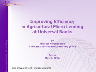 The Development Finance Experts