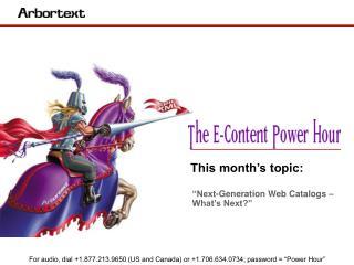 """""""Next-Generation Web Catalogs – What's Next?"""""""
