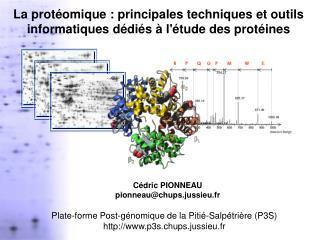 La protéomique : principales techniques et outils informatiques dédiés à l'étude des protéines
