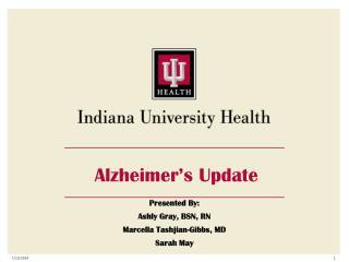 Alzheimer's Update