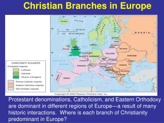 Christian Branches in Europe