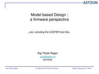 Model based Design :  a firmware perspective