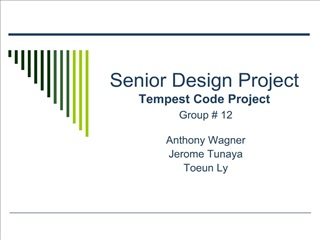 Senior Design Project Tempest Code Project