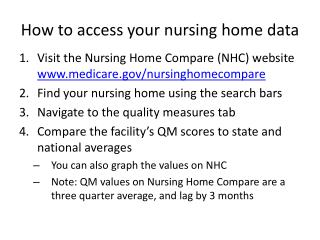 How to access your nursing home data