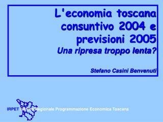 IRPET  Istituto Regionale Programmazione Economica Toscana