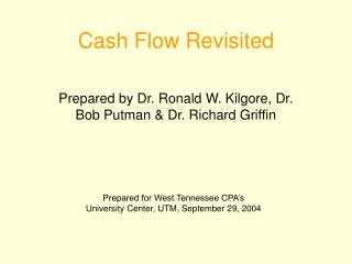 Cash Flow Revisited