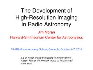 The Development of  High-Resolution Imaging  in Radio Astronomy