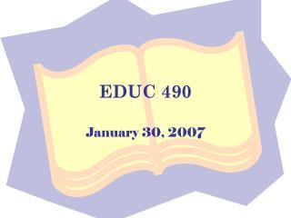 EDUC 490