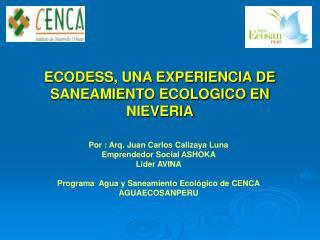 ECODESS, UNA EXPERIENCIA DE SANEAMIENTO ECOLOGICO EN NIEVERIA