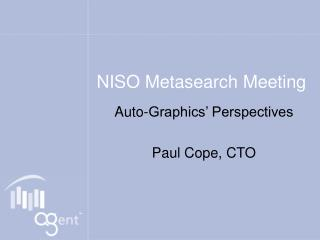 NISO Metasearch Meeting