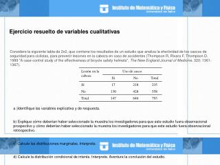 Ejercicio resuelto de variables cualitativas