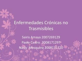 Enfermedades Crónicas no Trasmisibles