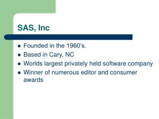SAS, Inc