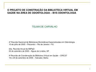 TELMA DE CARVALHO