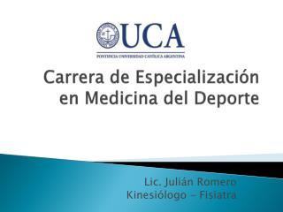 Carrera de Especialización en Medicina del Deporte