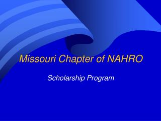 Missouri Chapter of NAHRO