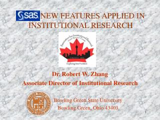 NEW FEATURES APPLIED IN INSTITUTIONAL RESEARCH