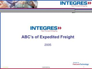 ABC's of Expedited Freight 2005