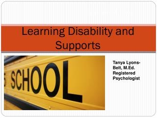 Learning Disability and Supports