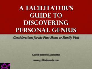 A Facilitator's Guide to Discovering Personal Genius