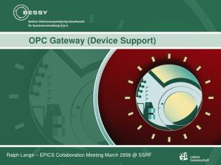 OPC Gateway (Device Support)