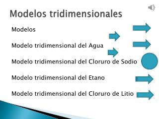 Modelos tridimensionales