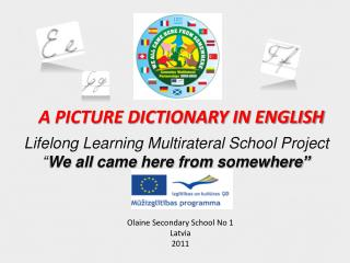 A PICTURE DICTIONARY IN ENGLISH