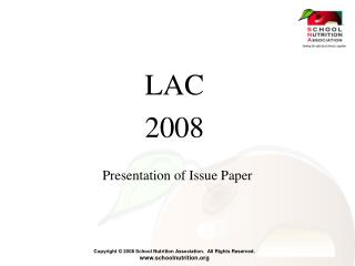 Presentation of Issue Paper