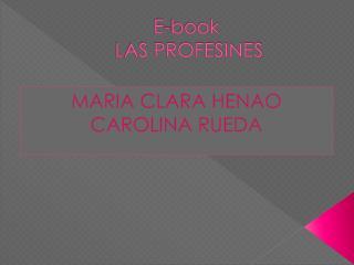 E- book  LAS PROFESINES