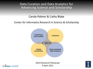 Data Curation and  Data Analytics for  Advancing  Science and Scholarship