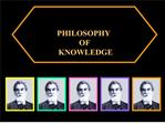 Syed Naquib al-Attas s  PHILOSOPHY  OF  KNOWLEDGE