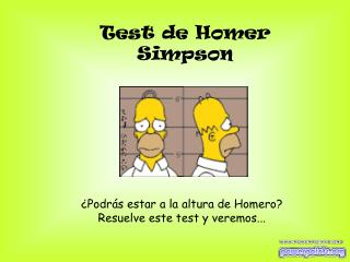 Test de Homer Simpson