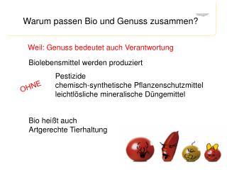 Biolebensmittel werden produziert