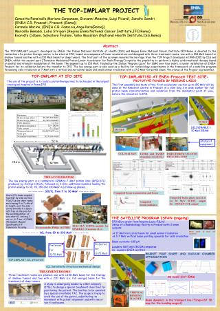 THE TOP-IMPLART PROJECT Concetta Ronsivalle,Mariano Carpanese, Giovanni Messina, Luigi Picardi, Sandro Sandri  (ENEA C.
