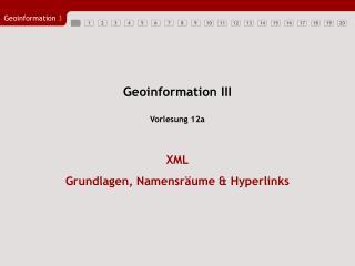 Geoinformation III