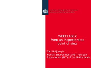 WEEELABEX  from an inspectorates  point of view