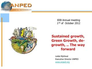 EEB Annual meeting  1 rst  of  October 2012
