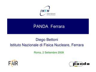  PANDA  Ferrara
