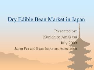 Dry Edible Bean Market in Japan