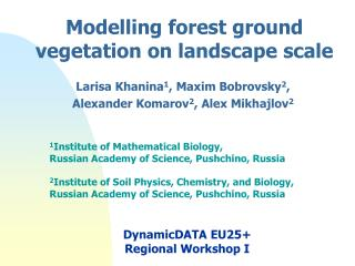 Modelling forest ground vegetation on landscape scale