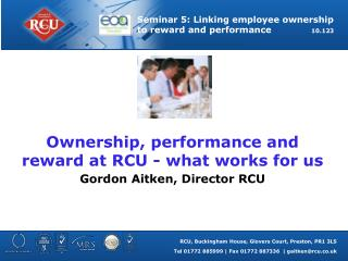 Ownership, performance and reward at RCU - what works for us
