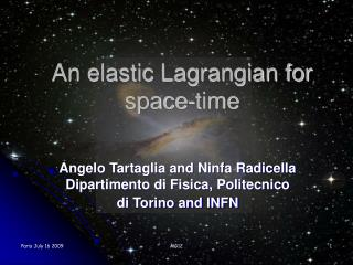 An elastic Lagrangian for space-time